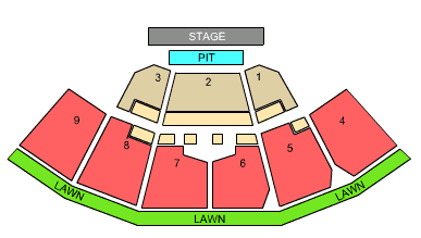 first niagara pavilion seating chart