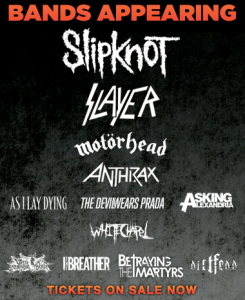 motorhead slipknot slayer anthrax first niagara pavilion